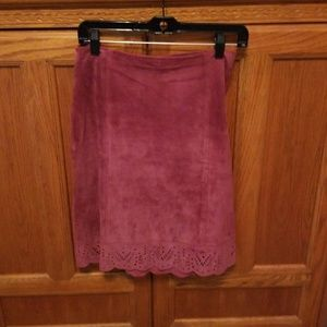 LAUNDRY SUEDE SKIRT